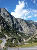 Road to Gotthard Royalty Free Stock Photo