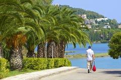 Road to Govino beach in Gouvia, Corfu, Greece Stock Images