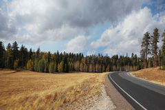 Road to the Grand Canyon in autumn Royalty Free Stock Photography