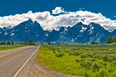 Road to Grand Tetons Stock Photos