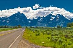Road to Grand Tetons Stock Photos