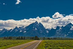 Road to Grand Tetons Stock Image