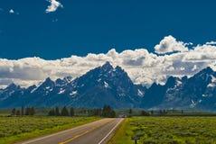 Road to Grand Tetons Stock Image