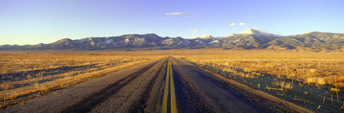 Road to Great Basin National Park Royalty Free Stock Photography