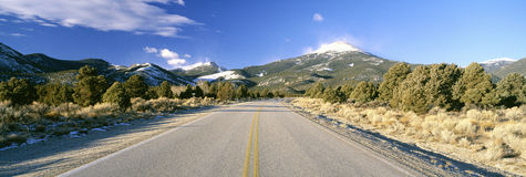 Road To Great Basin National Park Stock Photography