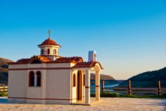 The road to the Greek Orthodox Church Royalty Free Stock Photos