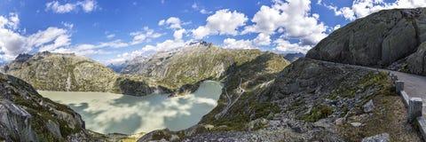 Road to Grimsel pass in Switzerland Stock Photos
