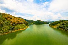 The road to Hala Bala national park , Yala Thailand. Royalty Free Stock Photos