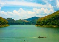 The road to Hala Bala national park , Yala Thailand. Stock Photos