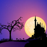 Road to halloween with pumpkin Stock Images