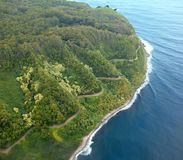Road to Hana aerial Stock Photo