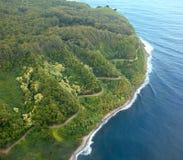 Road to Hana aerial Stock Photo