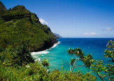 Road to hana, Maui. Beautiful day to Maui, Hawaii Royalty Free Stock Photo