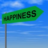 Road to happiness. Sign vector illustration