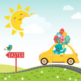 Road to happy Easter копия Stock Images