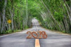 Road to 2018 Stock Photo