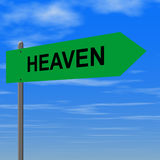 Road to heaven. Sign stock illustration