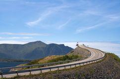 Road to heaven. View at Atlantic Road (Norway Royalty Free Stock Image
