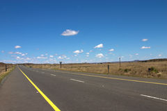 Road to heaven. The road on a sunny summer day in South Africa Stock Photography