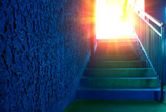 Road to heaven. Paradise road, stair leads to the sky Royalty Free Stock Photography