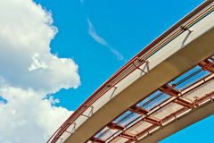 Road to Heaven. View of monorail on blue sky background royalty free stock photos