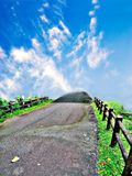 Road to heaven. A road leading to the skies, where you will find your hope and enlightenment Stock Photos