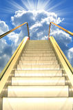 Road to heaven. Escalator in the sky Stock Photos