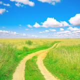 Road to heaven. Green peaceful road to heaven Stock Images