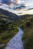 Road to heaven. The road to heaven, leading the picturesque valley Royalty Free Stock Image