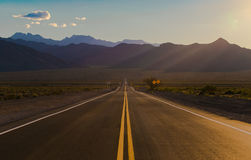 Road to Heaven. Lonely road heading up into the Spring Mountains, Nv Royalty Free Stock Images