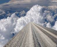 Road to the Heaven, texture. Gravel Road for the background, texture Stock Photo