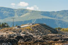 Road to heaven - view at Atlantic Road, Norway.  Stock Photos