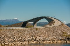Road to heaven - view at Atlantic Road, Norway Stock Image