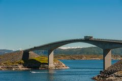 Road to heaven - view at Atlantic Road, Norway Royalty Free Stock Images