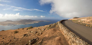 Road to heaven. View to road by Mirador del Rio, Lanzarote Stock Image