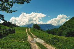 Road to Heaven. Village road to heaven Stock Photography