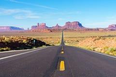 Road to heavens. Road trip to Monument Valley, Arizona, USA Stock Photo