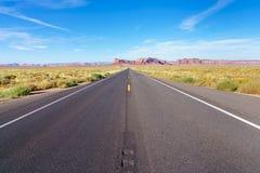 Road to heavens. Road trip to Monument Valley, Arizona, USA Royalty Free Stock Photos