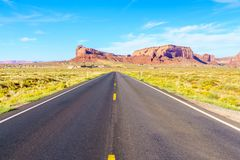 Road to heavens. Road trip to Monument Valley, Arizona, USA Royalty Free Stock Photography