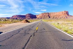 Road to heavens. Road trip to Monument Valley, Arizona, USA Stock Images