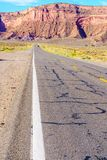 Road to heavens. Road trip to Monument Valley, Arizona, USA Royalty Free Stock Images