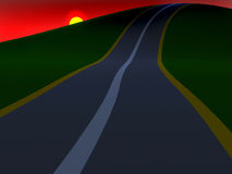 Road to the hills Royalty Free Stock Images