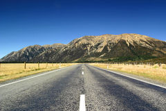 Road To The Hills 2. Road through the hills in Arthurs Pass, South Island, New Zealand Royalty Free Stock Image