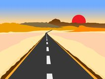 Road to hills royalty free stock images