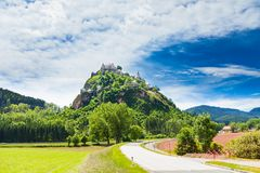 Road to Hochosterwitz castle in Austria Stock Photos