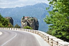 Road to Holy Trinity Monastery. Stock Photography