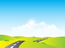 Road To Horaizon Landscape Stock Image
