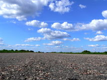 Road in to horizon. Highway in to the horizon of summer landscape Royalty Free Stock Photography