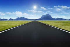 Road to horizon background Royalty Free Stock Images