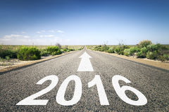 Road to horizon. An image of a road to the horizon with number 2016 Stock Image